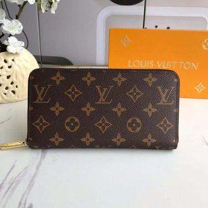 LV Zippy Wallet Monogram Red Bag